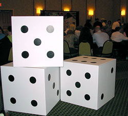 Giant Dice Decor